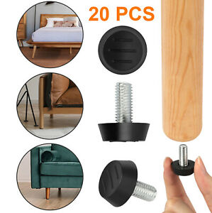 20PCS M8 Adjustable Furniture Glide Leveling Feet Table Chair Legs Pad Mat Iron