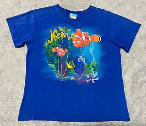 Vintage Y2K Finding Nemo Movie Promo T Shirt Youth Boys XL Blue Disney Pixar