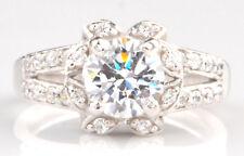 2,60Kt Solide 585er Weiß gold runden Form Erfreulich Solitär Verlobung Ring