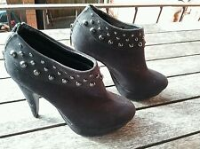 Pulp black suede studded ankle  boot size 5 good condition FREE POSTAGE