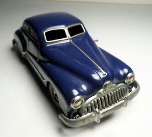 1950's Gama 100 Schuco Tin Windup Buick Blue Sedan w/ Box - Distler - Nice