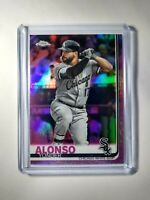 2019 Yonder Alonso Pink Holo Topps Chrome Refractor #102 Chicago White Sox