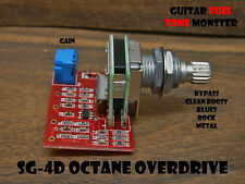 TONE MONSTER SG-4D OCTANE OVERDRIVE Guitar Effect Circuit Clean Blues Rock Metal