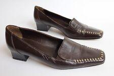 Paolo Galli womens Italian made brown leather low heel shoes uk 5 eu 38