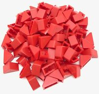 Lego 100 New Red Slope 45 2 x 1 Double Bottom Stud Holder Sloped Pieces