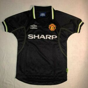 Manchester United 1998 1999 Third Umbro Original Football Shirt Youth Excellent