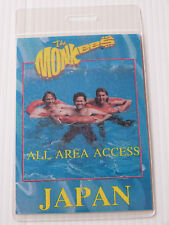 THE MONKEES Laminated ALL AREA ACCESS Backstage JAPAN Tour Pass -