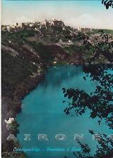 ROMA CASTEL GANDOLFO 12 LAGO Cartolina FOTOGRAFICA viaggiata 1957