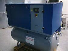 SCHRAUBENKOMPRESSOR 15 kW -400L KESSEL - 10 bar 2000L/min SANDSTRAHLKABINE