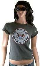 Amplified Official Ramones rock n 'Roll High School vintage agujeros t-shirt XS