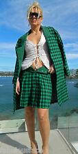 VINTAGE Couture 1970s-80s Original Rockabilly Herringbone Tweed Coat-Skirt