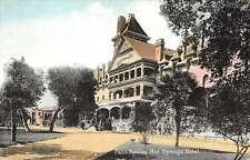 Paso Robles California Hot Springs Hotel Exterior Antique Postcard K20018