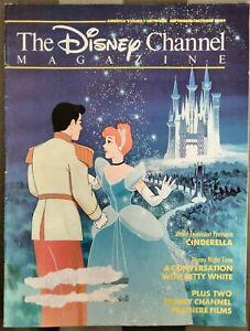 THE DISNEY CHANNEL 1988  MAGAZINE BETTY WHITE+LOU DIAMOND PHILLIPS+CINDERELLA
