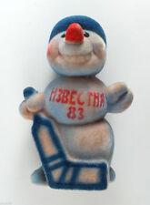 1983 Soviet Russian IZVESTIJA CUP HOCKEY POLYMER TOY SNOWMAN GOALKEEPER