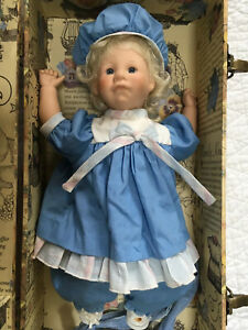 """Lee Middleton 14"""" Tall Doll With Case And Clothing Lot"""