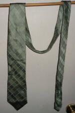"Mens JF J Ferrar Gray Plaid Check Diamonds Design Necktie Tie  Silk 60""  x 4"""