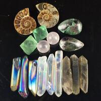 TOP!Combination Of Rare Quartz Crystal Mineral Rough Specimens 55G/17pcs AZ01