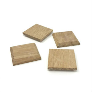 4 x Oak Wooden Blank Plaque Chamfered Stand Sign Craft Decoration Sign Plinth