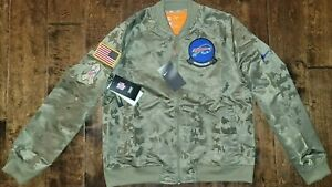 $110 Nike NFL Buffalo Bills Salute To Service Camo Bomber Jacket Womens Medium