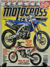 Motocross Action Jan 2017 Testing the Bike that Won the MXDN FREE SHIPPING sb
