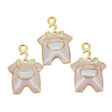 20pcs Pink Enamel Alloy Baby Clothing Pendants Charms Jewelry Crafts 39230