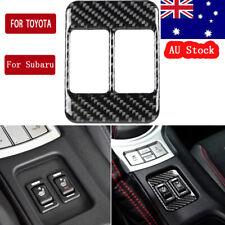 Carbon Fiber Sticker Seat Heating Button Frame Trim For Toyota 86 & Subaru BRZ