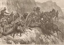 AFGHAN WAR. ARTILLERY ACCIDENT. LUNDI KOTAL. AFGHANISTAN. 1879