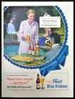 1949 Joan Fontaine photo Pabst Blue Ribbon Beer vintage print ad