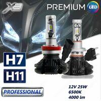 KIT 2 LAMPADE LED X3 12V H7 +1 H11 8000LM PER SUZUKI DL1000A V-STROM 2018-2019