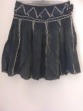 Soggo Ladies Skirt Boho Blue Festival lined 12/14 good condition lined flippy