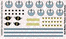 1/6 Scale Custom Waterslide Decals: Star Wars General Merrick Helmet Decals