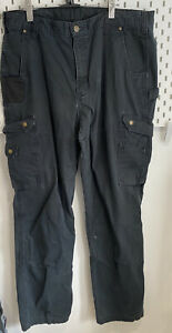 Vintage Carhartt Mens Black Carpenter Thick Work Trousers W36 Inch /L34 Inch