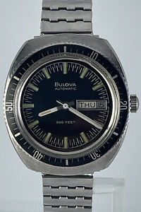Rare 70's  Vintage Bulova Automatic 666 Ft Diver Men's Watch Automatic Stainless