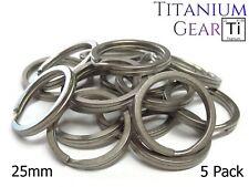 """Titanium Key Ring 25mm - 5 Pack Ti Split Ring EDC TC4 Matte Finish 1"""" USA SELLER"""