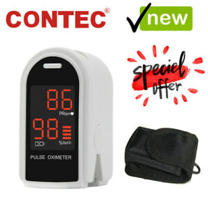 FDA CONTEC Finger Pulse Oximeter Blood Oxygen Monitor SpO2 PR Heart Rate CMS50DL