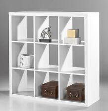 Raumteiler Style 3, weiß, Regal, Schrank, Standregal, Bücherregal, 9 Fächer