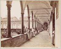 Firenze Certosa Chiostro Grande Foto originale all'albumina Brogi 1880c XL431