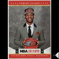 DAMIAN LILLARD RC ROOKIE CARD 2012-13 HOOPS ROOKIE RC BASE #280 QTY