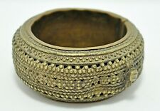 Original Old Antique Hand Crafted Fine Engraved Brass Tribal Anklet Bowl