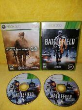 Battlefield 4 + Battlefield 3 + Modern Warfare 2- 3 Game Lot