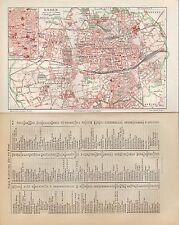 Landkarte city map 1905: Stadtplan: ESSEN. Innere Stadt. Friedrich Krupp