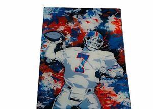 John Elway Magnet Denver Broncos art picture HOF football NFL signed auto Orange