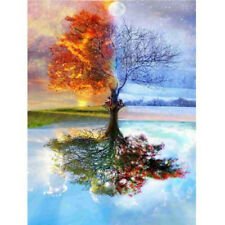 EP_ 5D Full Drill Diamond Art Wall Painting Wishing Tree Embroidery Cross Stitch