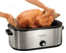 Large Electric Roaster Oven Turkey Roasting Pan Countertop Baking Meat Cooker