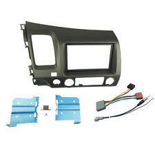 Double Din Stereo Panel for Honda Civic Radio Dash Mount Trim Kit + ISO Wiring