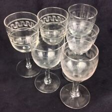 Crystal/Cut Glass Art Nouveau Clear Date-Lined Glass