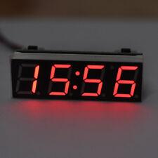 Reloj digital 12V coche LED Termómetro de voltaje de alarma de tiempo de reloj electrónico 4 modos