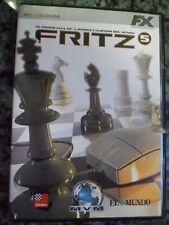 FRITZ 5 PC El programa de ajedrez campeón del mundo PAL España Foto real,.
