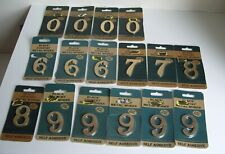 "16 x 2""  Black country metal works  Brassware Brass House Number self adhesive"