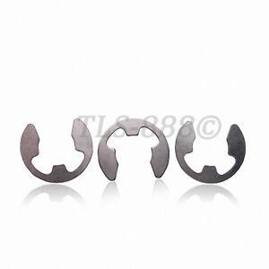 M1.5 M2 M3 M4 M5 M6 M7 M8 E-Clips Snap Ring Circlips Retaining - Ni Plated Steel